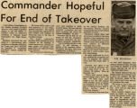 Commander hopeful for end of takeover